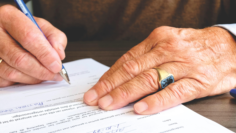 Individual signing document