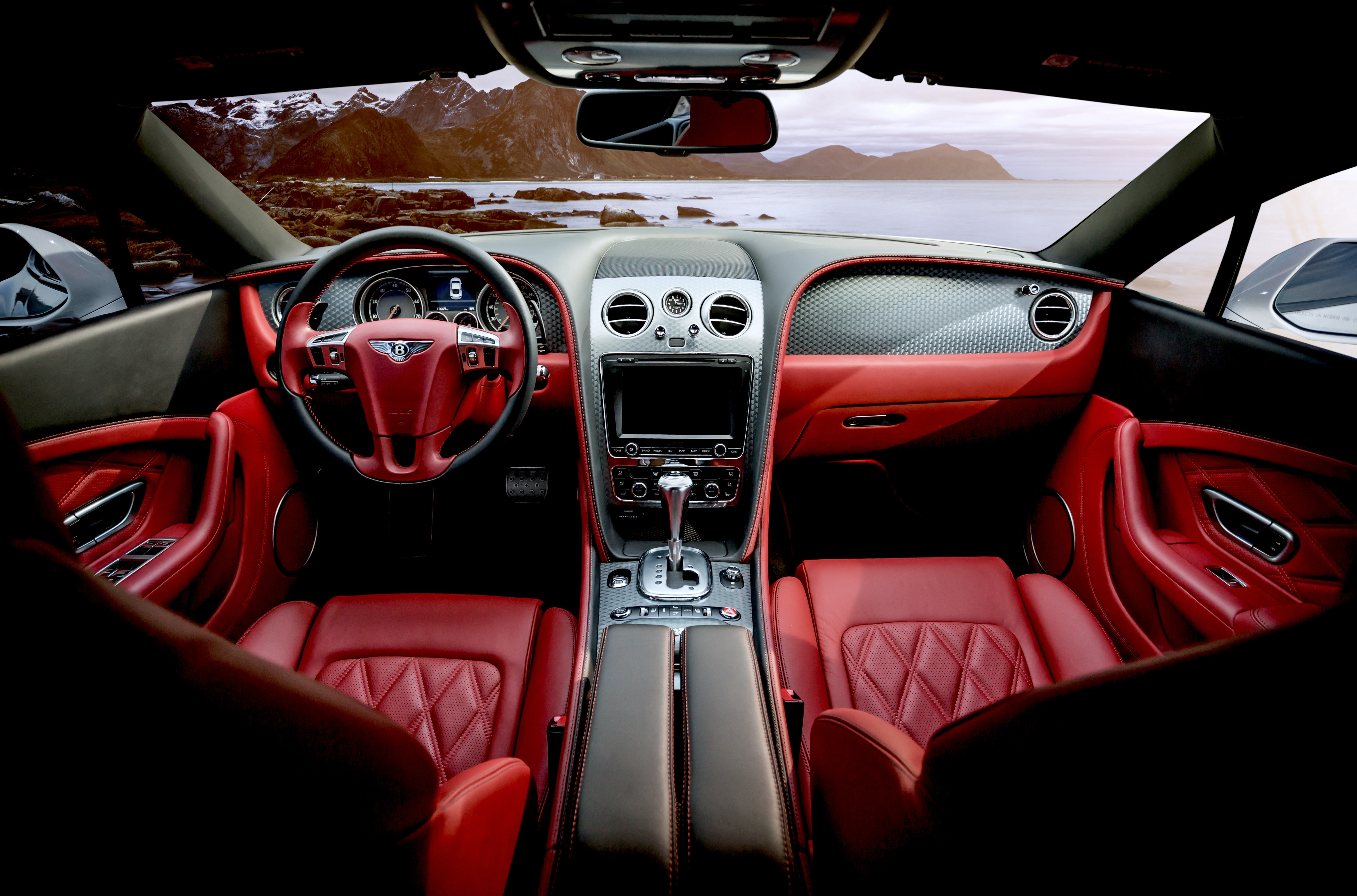 Interior of luxury car