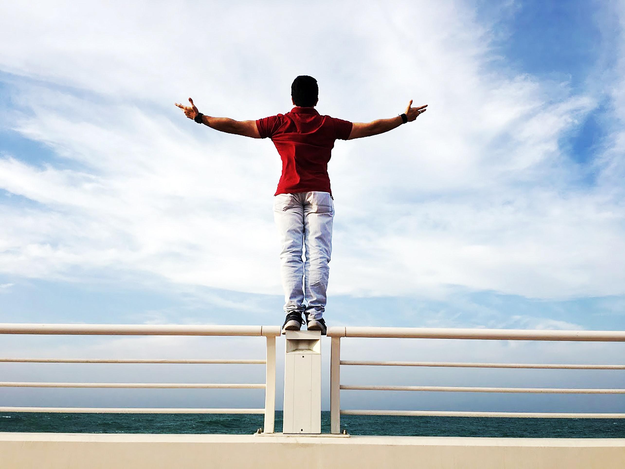 Man viewing ocean